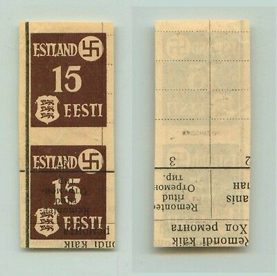 Estonia 1941 SC N3 MNH imperf printed on russian book pair . f3296