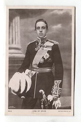 King Alfonso XIII of Spain - 1908 used real photo postcard