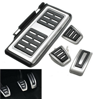 4pcs Car Clutch Brake Accelerator Pedal Footrest Pad Cover For VW/Golf 7 GTi MK7