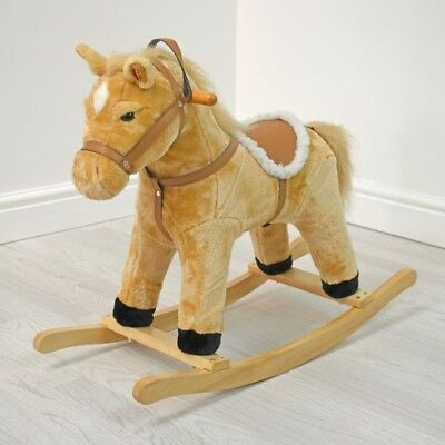 Cuddles Collection Rocking Horse - Buttermilk Small