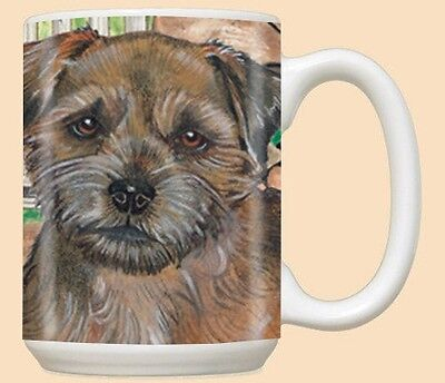 15 oz. Ceramic Mug (PS) - Border Terrier MU511 IN STOCK