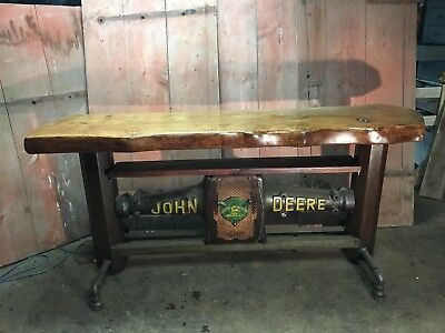 industrial  table vintage bar craft beer wrought iron barn wood beams cast iron