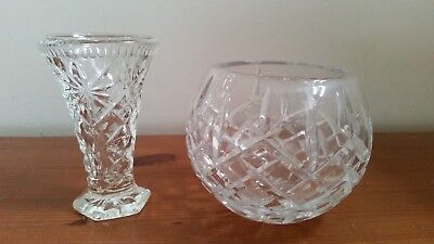 Zawiercie Lead Crystal Glass Vase / Bowl & other Small Decorative Glass Vase