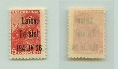 Lithuania Telsiai 1941 SC LT1 mint IV instead VI . f3257