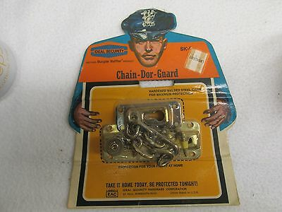 Vtg Ideal Security Brass Door Security Chain Guard Home Safety Lock SK-53 NIP