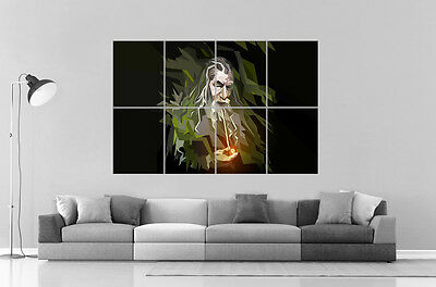 Gandalf Style Abstract the Lords of the Rings Wall Poster Great Format A0 Print