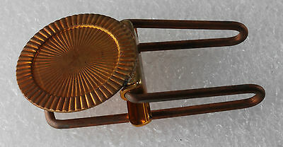 Antique Collectible  Brass & Copper Plated Wire Hinged Money Clip NOS 1940'S