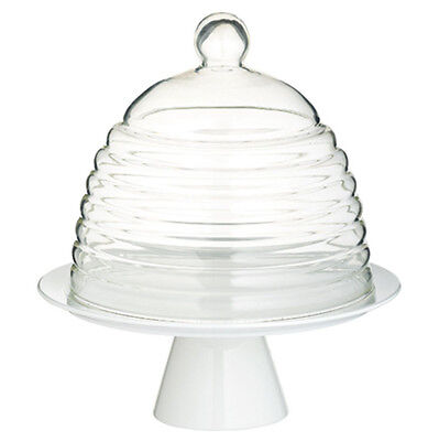 Kitchen Craft Sweetly Does It 25cm Glass Dome Cake Stand - KCCAKEDOME