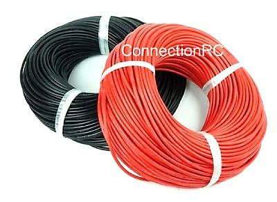 14awg  to 30awg Silicone Wire RED and BLACK by the metre