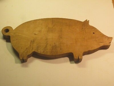 Large Vintage Wooden Pig Cutting Board In Great Condition