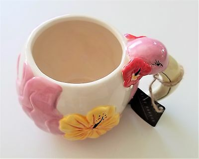 Pink Flamingo Shaped Mug Coffee Cup Kitchen Decoration Brand New Unique Gift