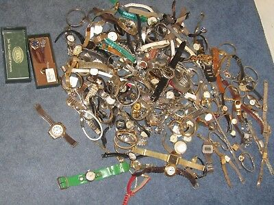 vintage watch lot watches +1 Black Label watch Big Lot 157 Old Watches