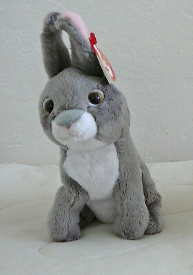 NEW Ty Original Beanie Babies Orchard Gray Rabbit Bunny 2010