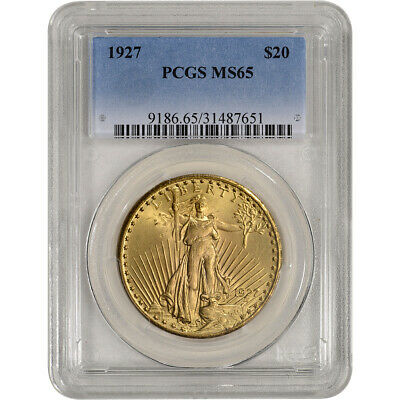 US Gold $20 Saint-Gaudens Double Eagle - PCGS MS65 - Random Date