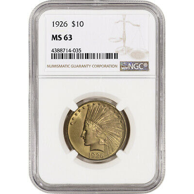 US Gold $10 Indian Head Eagle - NGC MS63 - Random Date