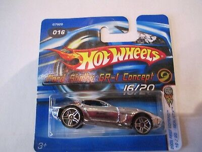 Hot Wheels 1:64 2005 First Editions Ford Shelby GR-1 Concept 16/20 Chrome Short