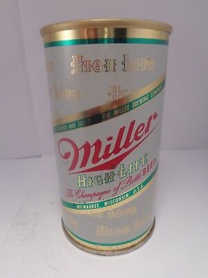 Miller High Life Straight Steel Pull Fan Tab Beer Can #94-14-B   No Union Label