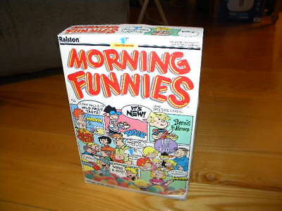1988 Ralston Purina Morning Funnies Full Cereal Box Dennis the Menace & More #1