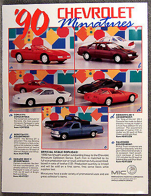 Advertisement ~ Promotional Models - Kits ~ 1990 Chevrolet