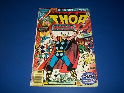 The Mighty Thor Annual #6 Bronze age Guardians of the Galaxy Korvac Fine Wow