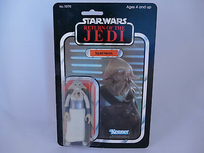 Star Wars Vintage Squid Head Made In Mexico Rotj 77 Back Moc