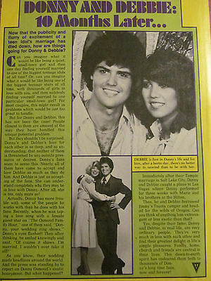 Donny Osmond, Osmonds Brothers, Full Page Vintage Clipping, Debbie