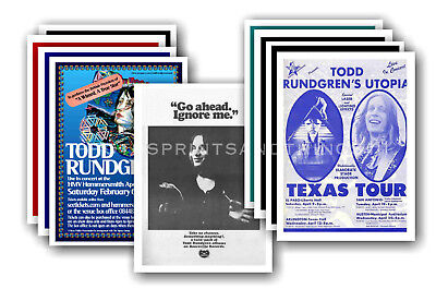 TODD RUNDGREN  - 10 promotional posters - collectable postcard set # 2