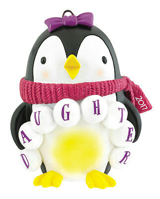 Carlton Heirloom Ornament 2017 Daughter - Penguin in Scarf - #CXOR016M-SDB