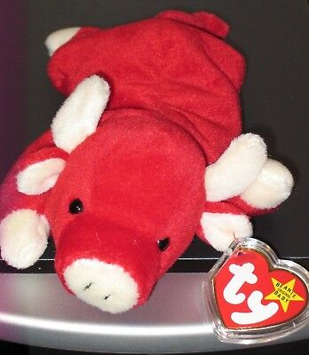 Ty Beanie Baby ~ SNORT the Red Bull ~ MINT with MINT TAGS ~ RETIRED