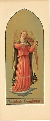 "16"" Laudate Dominum! (Praise the Lord) B. Angelico Chromolithograph"