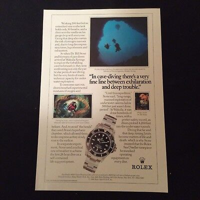 1990 Rolex Print Ad - Sea-Dweller 4000 Oyster Perpetual Date Is Pictured