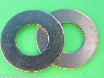 TWO #32 BRASS Thrust Washer for Hobart Meat Grinder Auger Worm 4332 4532