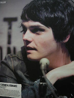 My Chemical Romance (Gerard Way) - Magazine Cutting (Full Page Photo) (Ref Sa)