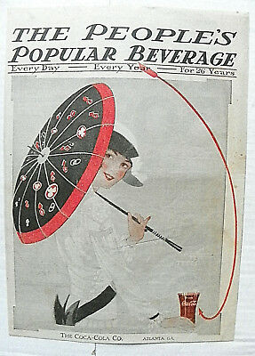 "1915 Jun People's Popular Monthy ""people's Popular Beverage"" Woman With Umbralas"