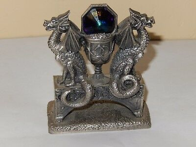 "FANTASY PEWTER & CRYSTAL THE CRYSTAL CHALICE WAPW #3139 3.5"" tall"