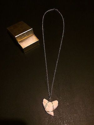 """Real 1 1/4"""" Tiger Shark Tooth Necklace 19"""" stainless steel w/ lobster claw teeth"""