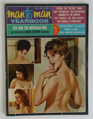 Complete 1965 Man to Man Yearbook Risqué Men's Magazine Nude Photos Earl Moran