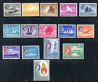 Singapore 28-42, 1955 Regulars (Qe Ii Picture), Mnh (Id3062)