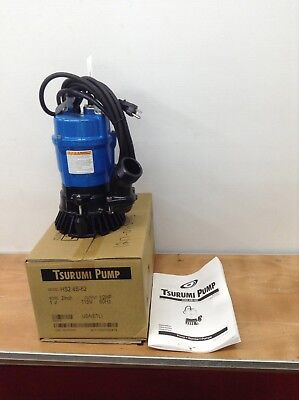 "4 Pack Tsurumi HS2.4S-62 Submersible 2"" Sump Pumps Trash Water Waste Dewatering"