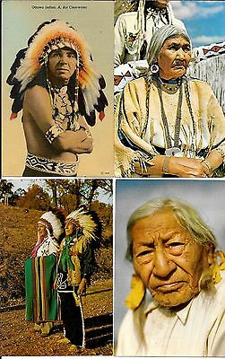 U.S.-American Indians- Nice pile of 45 postcards from western states