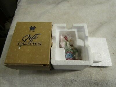 Avon Santa's Elves Collection Elf with Teddy Christmas Tree Ornament NIB New