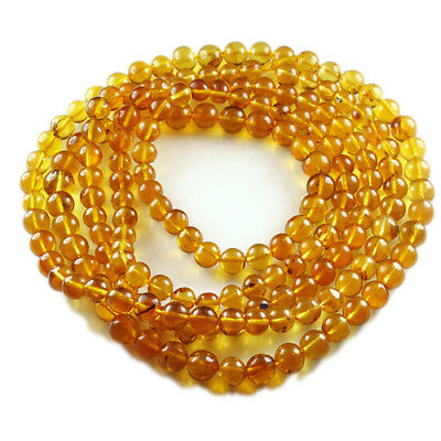 25.34g 100% Natural Mexican Golden Amber Bead Bracelet Necklace CSFb558