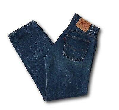 Vintage Levi's 501 0000 Denim Button Fly Jeans Sz 31 x 32 (29x 30) Made in USA