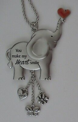 s You make my heart smile ALWAYS REMEMBER YOU ARE LOVED Elephant car charm ganz