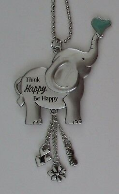 s Think happy be happy ALWAYS REMEMBER YOU ARE LOVED Elephant car charm ganz