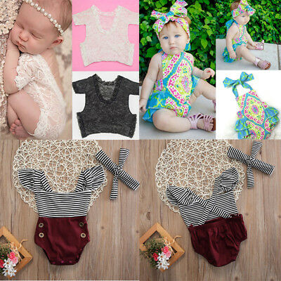 Baby Boy Girl Outfits Romper Newborn Toddler Kids Photography Prop Jumpsuit Sets
