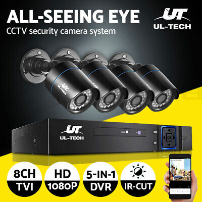 UL-tech CCTV Home Security System 8CH DVR 1080P Camera Outdoor Day Night IP Kit