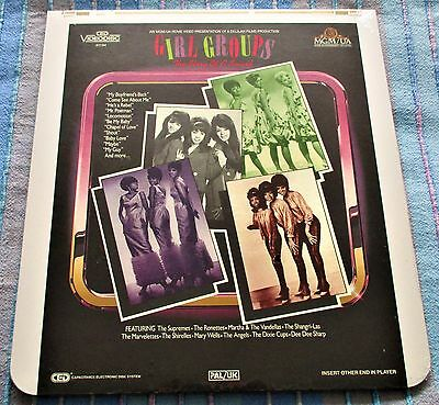 Various 'GIRL GROUPS/THE STORY OF A SOUND' PAL/UK CED Videodisc New/Sealed