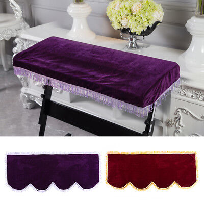 Elegant Soft Anti-dust Decorated Keyboard Cover for 61/88 Key Electronic Piano