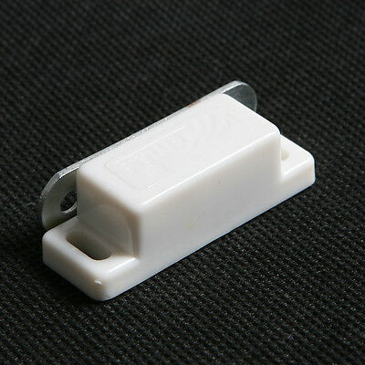 Magnetic Cupboard Cabinet Door Catch Magnet Latch White Plastic Iron S Size